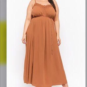 Forever 21 Dresses - Forget 21 Plus size Crochet-Trim Maxi Dress